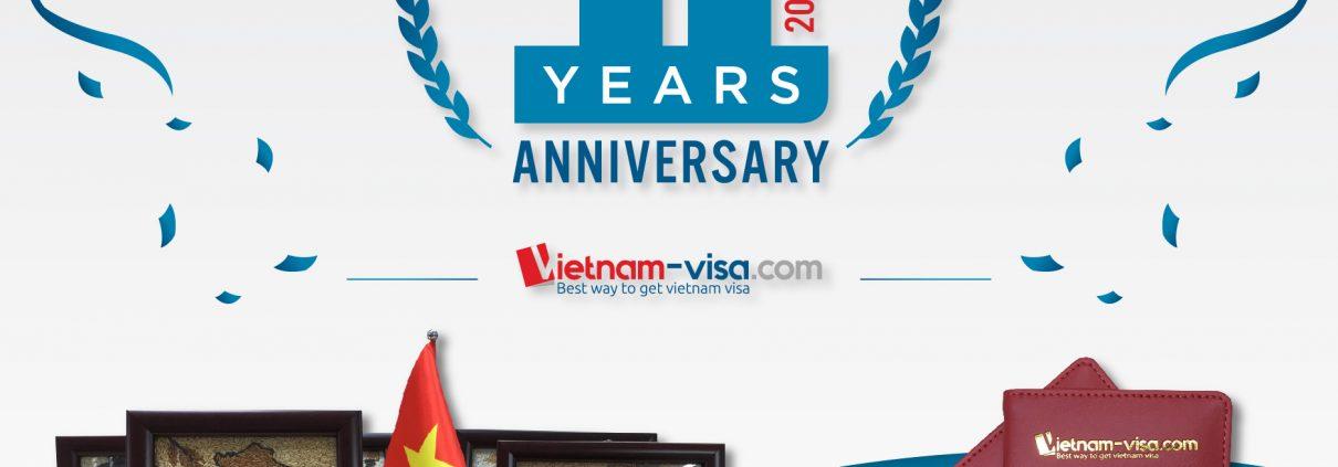 Vietnam-visa.com to celebrate the 11th anniversary of establishment